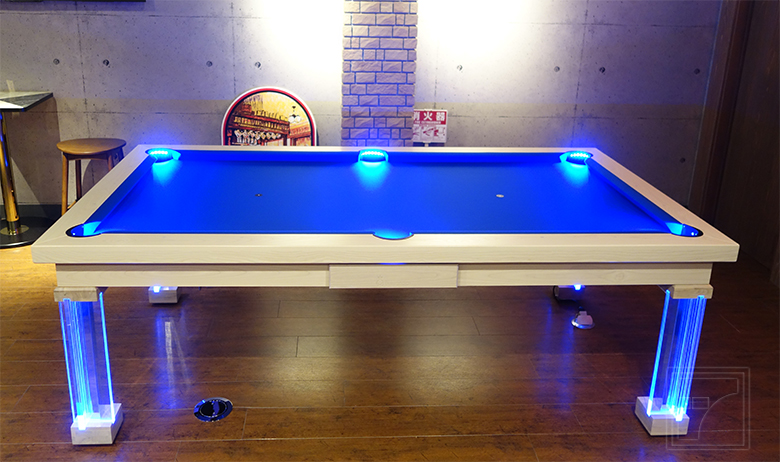 Neon Pool Table