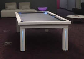 Painted White Dining Room Pool Table